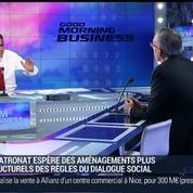 Le dialogue social dans l'entreprise est contraint et réglementé: Alexandre Saubot