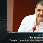 Zapping TV : Yves Calvi recadre Jean-Luc Mélenchon en direct