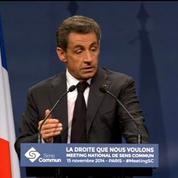 Sarkozy: La loi Taubira doit être réécrite de fond en comble