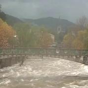 Inondations en Ardèche: le niveau de la Volane inquiète