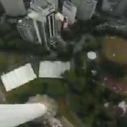 Un accident de parachute en caméra embarquée
