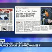 Air France : les pilotes veulent le paiement des jours de grève