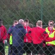 Football / Zidane entraîne les jeunes du Stade Rennais
