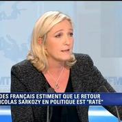 Marine Le Pen : «Nicolas Sarkozy est un has-been»