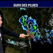 Intempéries: le suivi des pluies
