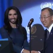 Autriche : Conchita Wurst a chanté devant Ban Ki-moon