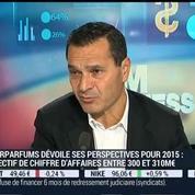 Interparfums prévoit entre 300 et 310 milliards d'euros de chiffre d'affaires pour 2015: Philippe Bénacin –