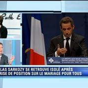 Guillaume Peltier fait les sous-titres de la position de Nicolas Sarkozy sur la loi Taubira