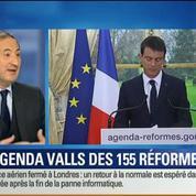 BFM Story: Agenda des 155 réformes: Manuel Valls veut montrer que la France agit