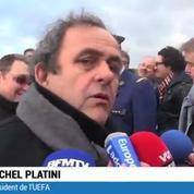 Football / Platini rend hommage aux soldats de 1914