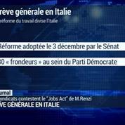 Italie : Grève générale contre la réforme du marché du travail