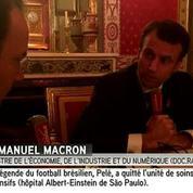 Macron impute l'échec du pacte de responsabilité à Gattaz
