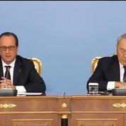 Kazakhstan: Hollande rappelle la position de la France sur les droits de l'homme
