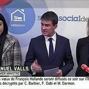 SDF : « Il manque encore des places, il faut en faire davantage» (Valls)