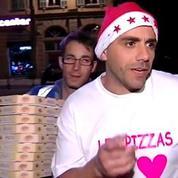 Nice: un pizzaïolo joue les pères Noël auprès des SDF
