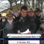 Manuel Valls rend hommage aux mineurs de Liévin
