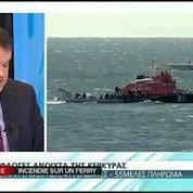 Un ferry italien prend feu au large de la Grèce