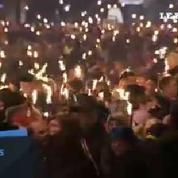Marche aux flambeaux pour célébrer le prix Nobel de la Paix