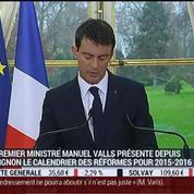 Présentation du calendrier des 155 réformes de Manuel Valls pour 2015-2016 (1/2)