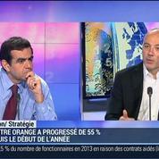 Comment expliquer la forte progression du titre Orange durant l'année 2014 ?: Stéphane Richard