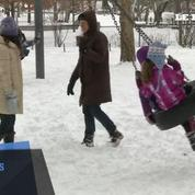 Neige à New York : ski et glissades à Central Park