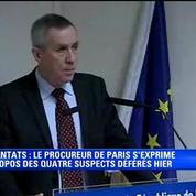 Attentats de Paris: quatre hommes mis en examen et écroués (procureur de Paris)