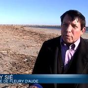 Crue: la plage de Fleury d'Aude submergée par les détritus