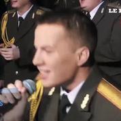 Les choristes de l'Armée rouge sont