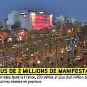 Une foule très dense se dirige vers la Porte de Vincennes
