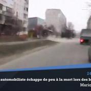 Ukraine : un automobiliste échappe de peu à la mort