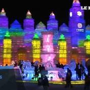Chine : ouverture du festival de glace de Harbin