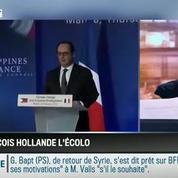 Le parti pris d'Apolline de Malherbe: François Hollande, l'écolo intéressé –
