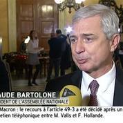 Loi Macron : Bartolone «regrette» le recours au 49-3