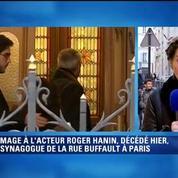 Hommage à Roger Hanin à la synagogue de Buffault à Paris
