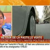 Ségolène Royal annonce le retour de la pastille verte