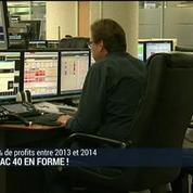 Les profits du CAC40 en hausse pour la première fois depuis 4 ans