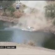 Rallye : il sort de route et finit dans un lac