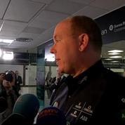 Albert de Monaco ému après le décollage de Solar Impulse 2