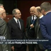 Déficit : le délai français passe mal
