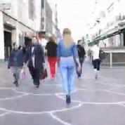 Bodypainting : elle se promène à demi-nue dans les rues de Lille