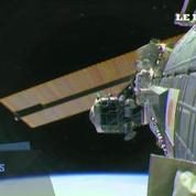 Espace : la difficile opération de cablage sur l'ISS