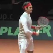 Coupe Davis, Federer s'entraîne !