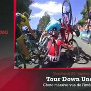 Zap'Sport : Une chute massive en cyclisme en caméra embarquée