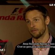 Jenson Button présente la nouvelle McLaren-Honda