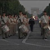 Les répétitions du défilé du 14 juillet