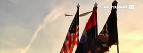 Débarquement à Omaha Beach: les vétérans se recueillent au lever du jour