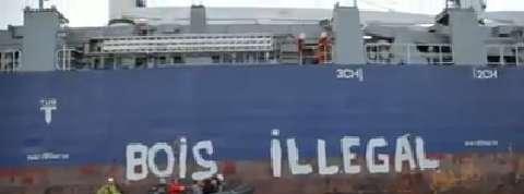 Greenpeace bloque le cargo Safmarine Sahara à La Rochelle