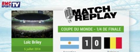 Argentine Belgique : Le Match Replay avec le son RMC Sport !