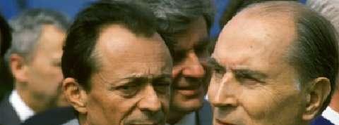 Mitterrand et Rocard, le crocodile et le hamster