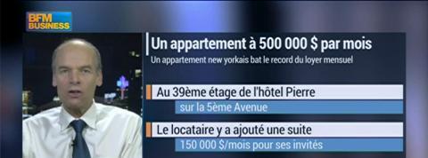 New York: un appartement à 500.000 dollars par mois